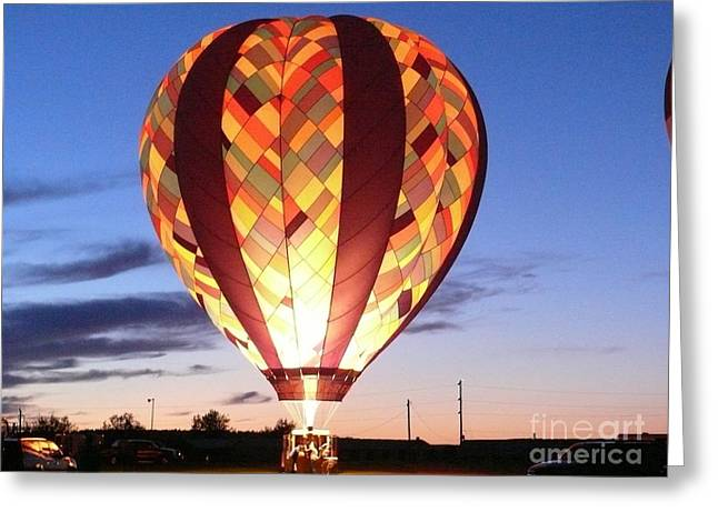 Helium Greeting Cards - Lighting the night Greeting Card by Brenda Ketch