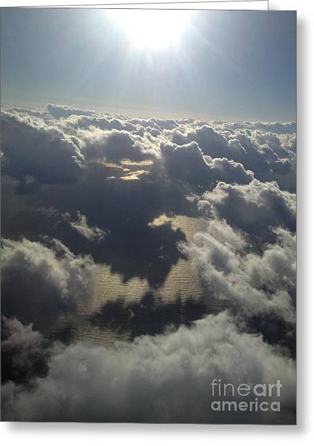 Cumulus Greeting Cards - Lighting the Sea of Japan Greeting Card by Greg Cross