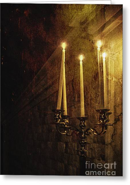 Candle Stand Greeting Cards - Lighting The Way Greeting Card by Margie Hurwich