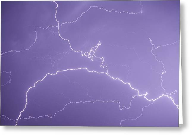 Lightning Bolt Pictures Greeting Cards - Lightning Greeting Card by Andrew Proudlove