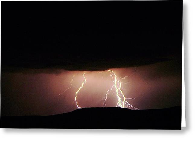 Lightning Dancing Greeting Card by Jeff Swan