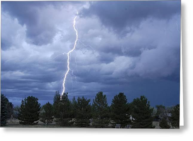Arizona Lightning Greeting Cards - Lightning Flagstaff July 20 2013 Greeting Card by Brian Lockett