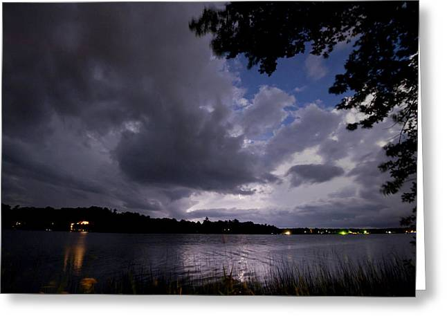 Camelot Greeting Cards - Lightning lighting 2 Greeting Card by Gary Eason