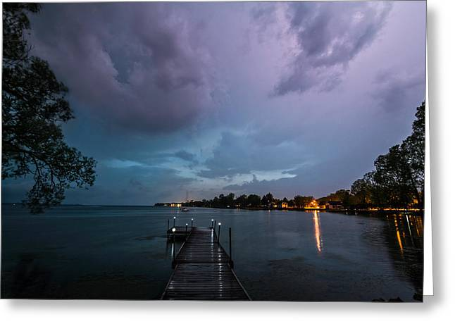 Lightning Lighting Greeting Card by Matt Molloy