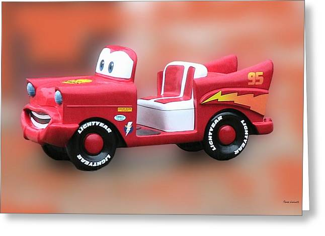 Lightning Photographer Greeting Cards - Lightning McQueen Greeting Card by Thomas Woolworth