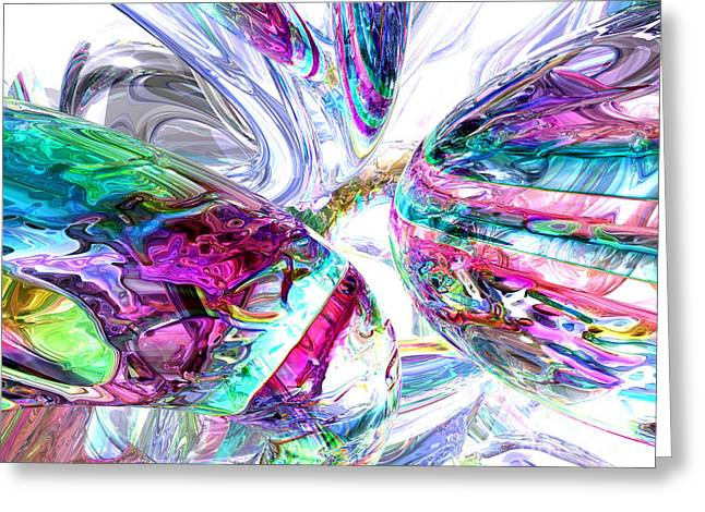 Love Poetry Greeting Cards - Lightning Prism Abstract Greeting Card by Alexander Butler