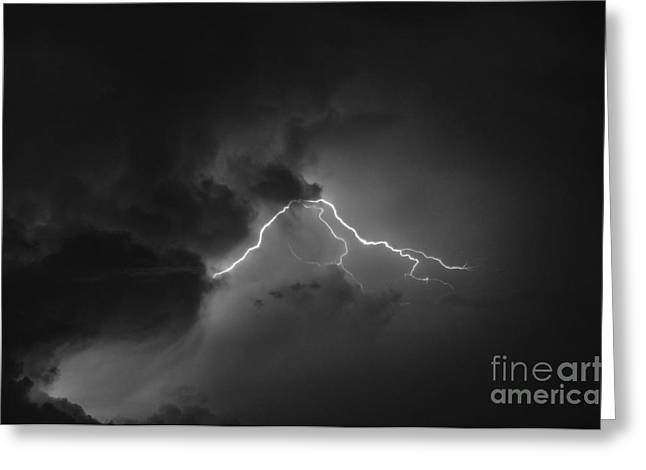 Photography Lightning Pyrography Greeting Cards - Lightning Greeting Card by Sorin Fota