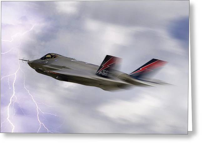 Carrier Digital Art Greeting Cards - Lightning Speed Greeting Card by Peter Chilelli