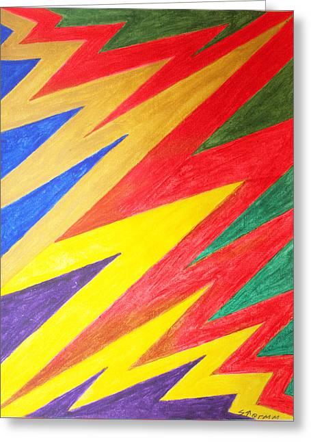 Lightning Strike Paintings Greeting Cards - Lightning Greeting Card by Stormm Bradshaw