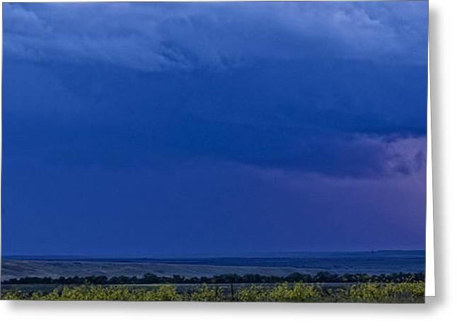 Striking Images Greeting Cards - Lightning Strike Over The Prairies Greeting Card by Robert Postma