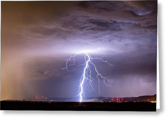 Lightning Strikes Following The Rain  Greeting Card by James BO  Insogna