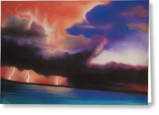 Lightning Pastels Greeting Cards - Lightning Strikes Greeting Card by Kevin Hubbard