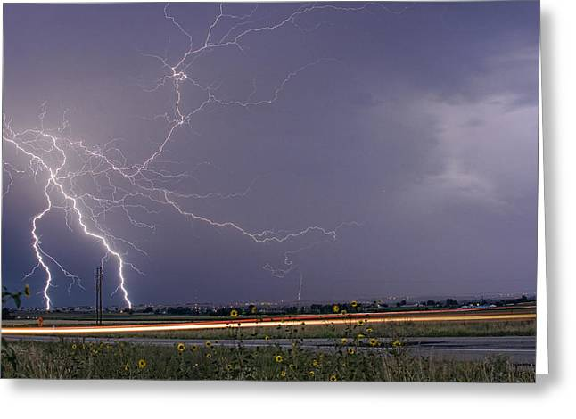 Photography Lightning Greeting Cards - Lightning Thunderstorm DragOn Greeting Card by James BO  Insogna