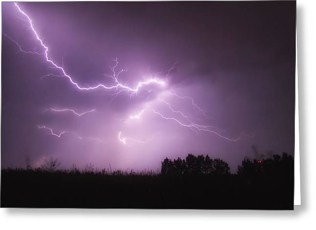 Thunderstorm Greeting Cards - Lightning Thunderstorm   Greeting Card by Mountain Dreams