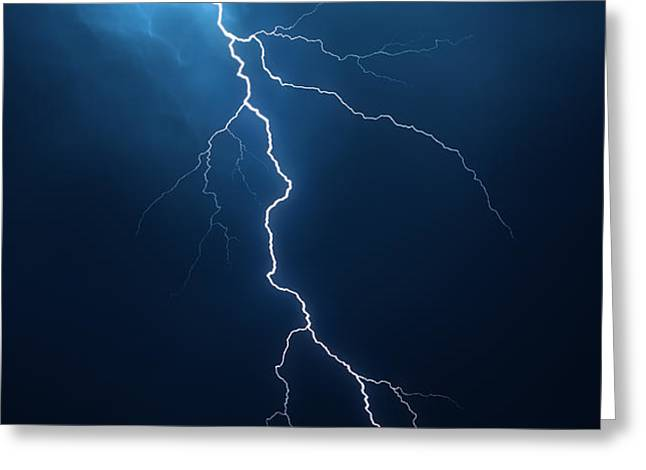 Lightning with cloudscape Greeting Card by Johan Swanepoel