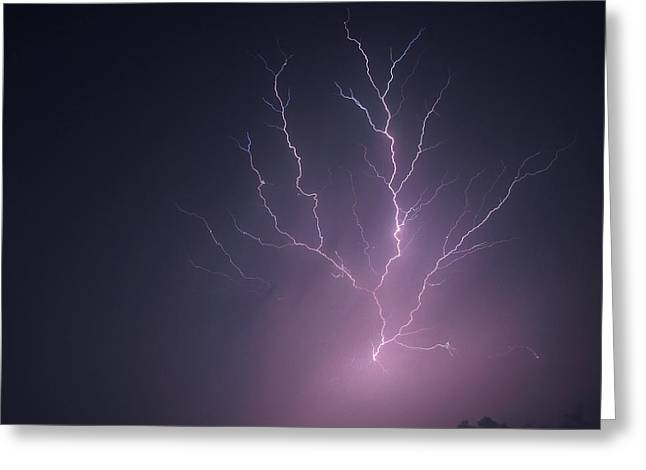 Noise . Sounds Photographs Greeting Cards - Lightning...energy Greeting Card by Tom Druin