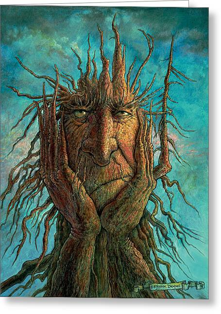 Amazing Paintings Greeting Cards - Lightninghead Greeting Card by Frank Robert Dixon