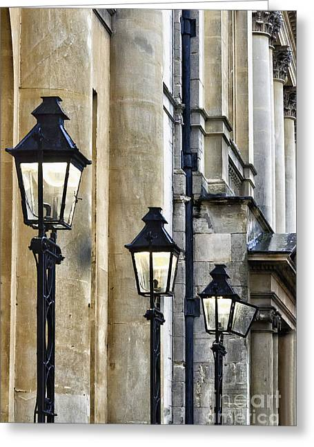 Lights And Columns Greeting Card by Margie Hurwich