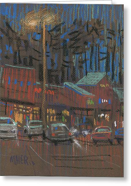 Mall Greeting Cards - Lights Come On Greeting Card by Donald Maier