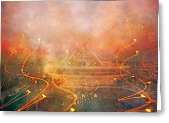 Smoky Greeting Cards - Lights Greeting Card by Betsy C  Knapp