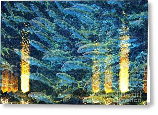 Beneath The Surface Greeting Cards - Lights Beneath The Water Greeting Card by Marcia Lee Jones