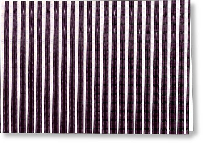 Abstract Digital Mixed Media Greeting Cards - Lights n Shades Purple n White Stripe Abstract art for Dark Rooms and Corridors also see Throw Pillo Greeting Card by Navin Joshi