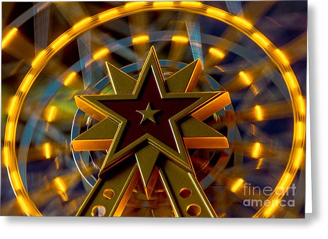 Whee Greeting Cards - Lights of a Ferris Wheel Greeting Card by Julie Chambers