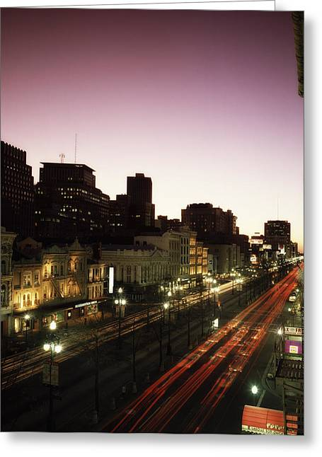 Canal Street Greeting Cards - Lights of Canal Street Greeting Card by Mountain Dreams