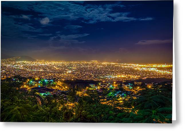 Kingston Greeting Cards - Lights Of Kingston Greeting Card by Lechmoore Simms
