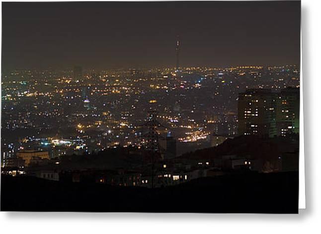 Tehran Greeting Cards - Lights Of Tehran, Iran Greeting Card by Babak Tafreshi