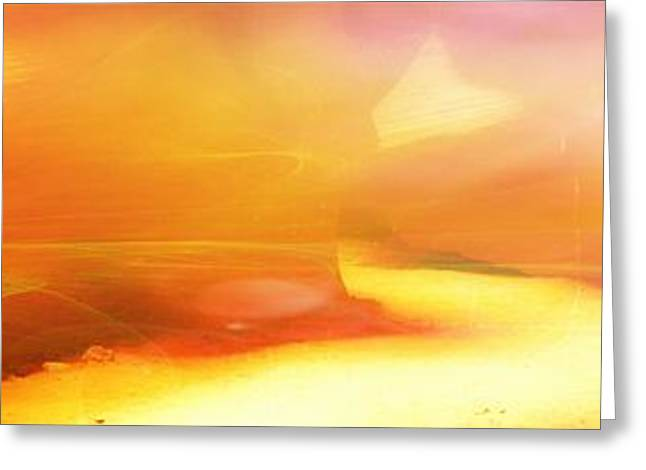 Purchase Greeting Cards - Lights of the Canyon - Digital Abstract landscape Artwork Greeting Card by Lilia D