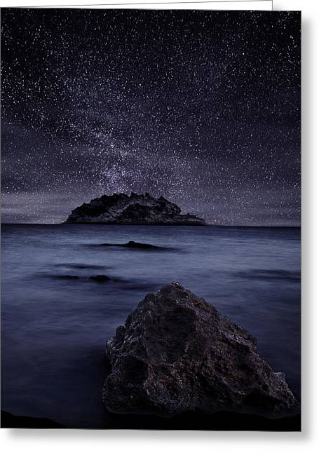Ocean Moods Greeting Cards - Lights of the past Greeting Card by Jorge Maia