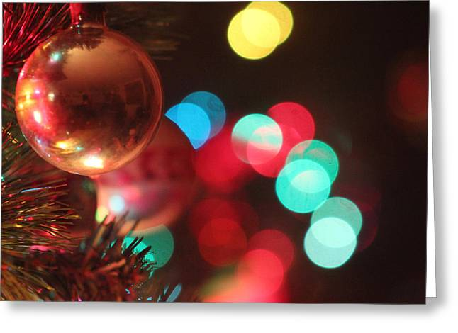 On His Holidays Greeting Cards - Lights of Yuletide Lights of Hope Greeting Card by Carolina Liechtenstein