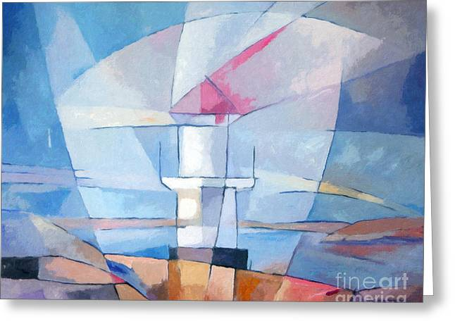 Lightscape At Sea Greeting Card by Lutz Baar