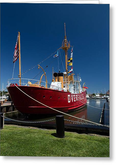 Historic Schooner Greeting Cards - Lightship OVERFALLS Greeting Card by Earl Ball