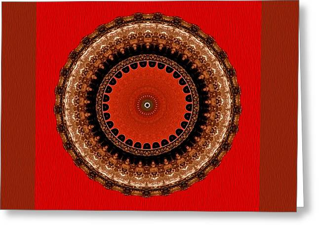 Interior Still Life Digital Greeting Cards - Lightwaves Mandala Greeting Card by Kandy Hurley