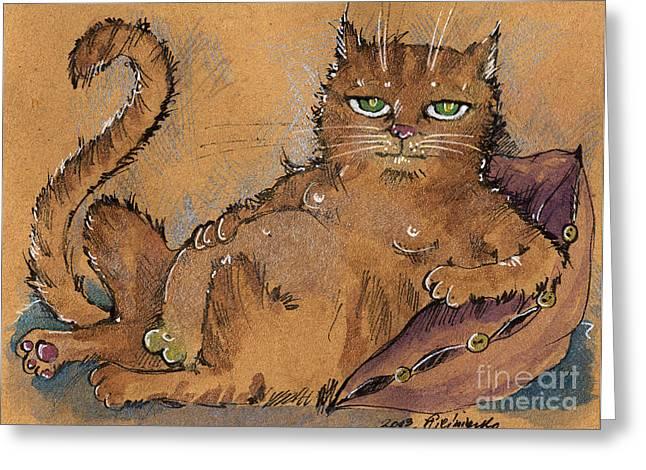Tom Cat Greeting Cards - Like A Boss Greeting Card by Angel  Tarantella