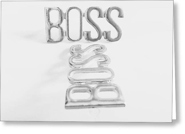 work Jewelry Greeting Cards - Like a Boss Greeting Card by Theano Exadaktylou