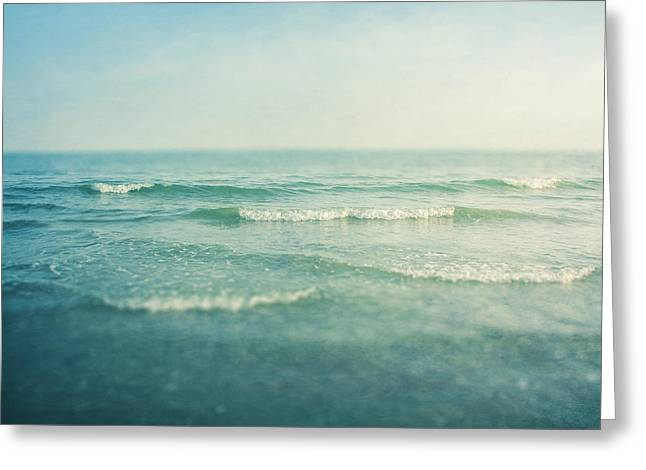 Blue Green Water Photographs Greeting Cards - Like A Dream Greeting Card by Violet Gray