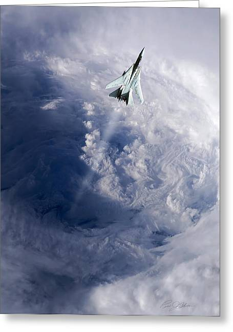 Storm Digital Art Greeting Cards - Like A Hurricane Greeting Card by Peter Chilelli