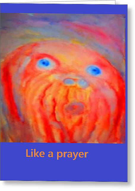 Despair Mixed Media Greeting Cards - Like a prayer Greeting Card by Hilde Widerberg