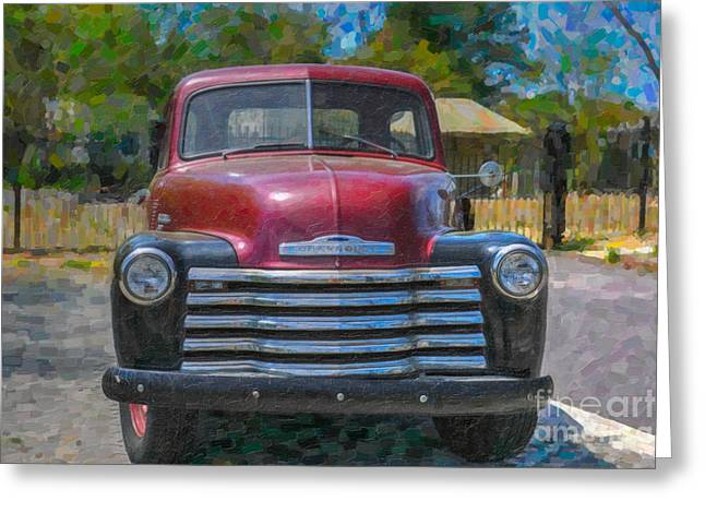 Chevrolet Pickup Truck Mixed Media Greeting Cards - Like a Rock Greeting Card by Dale Powell