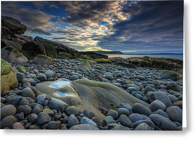 Maine Beach Greeting Cards - Like A Rolling Stone Greeting Card by Rick Berk