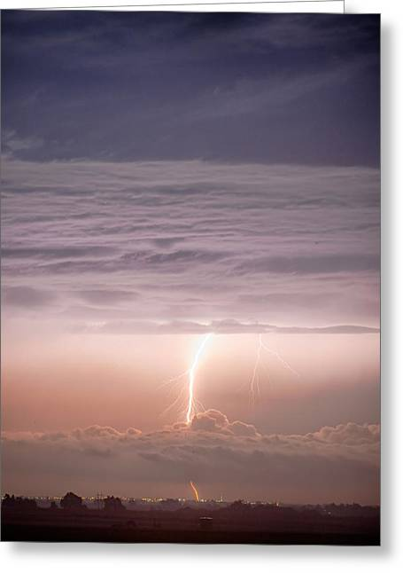 Images Lightning Greeting Cards - Like a Sci-Fi Movie Greeting Card by James BO  Insogna