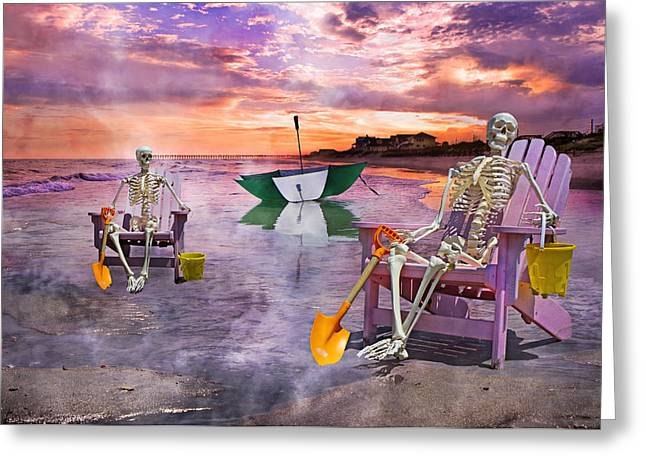 Bone Structure Greeting Cards - Like Father Like Son Greeting Card by Betsy C  Knapp
