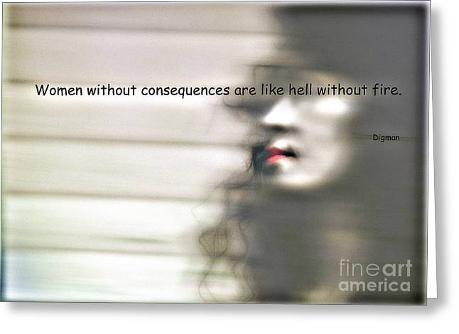 Exotic Women Greeting Cards - Like Hell Without Fire Greeting Card by Steven  Digman