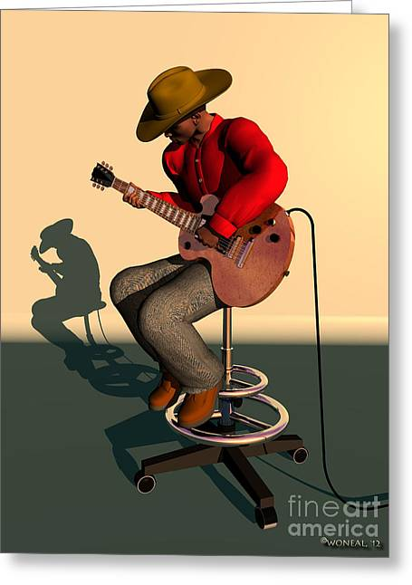Argyle Digital Greeting Cards - Like Jimi Hendrix Greeting Card by Walter Oliver Neal