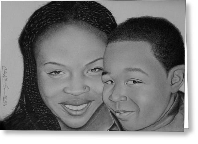 Photorealism Greeting Cards - Like Mother Love Son Greeting Card by Curtis Louisville