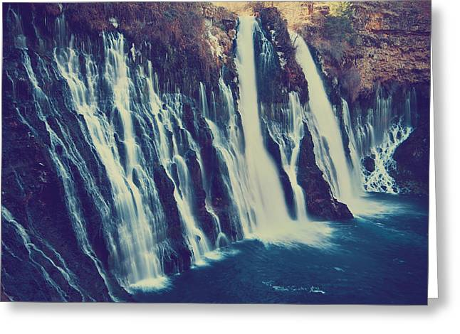 Falling Water Greeting Cards - Like My Pounding Heart Greeting Card by Laurie Search