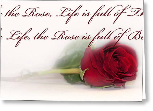 Like the Rose Greeting Card by Mechala  Matthews
